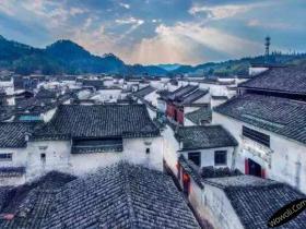 皖南古村落——西递摄影图片