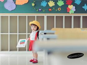 儿童摄影主题校园风