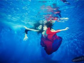 三亚水下婚纱摄影